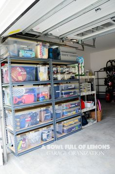 Really great post on organizing the garage that will really work if you follow it also includes section on using boxes until you can buy enough bins very practical advise