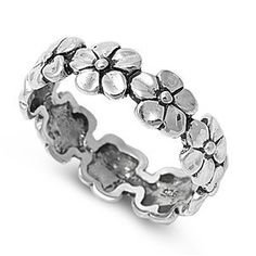 Sterling Silver Continuous Flower / Plumeria Ring Sz 5-10 140684123456