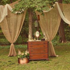 A DIY wedding in Virginia with burlap and vintage touches galore. By Heather Espana.