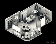#isometric #room