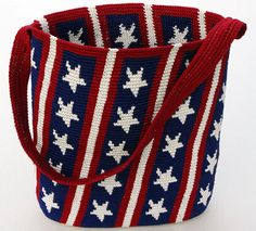 New Patriotic Purse in back issue of crochet world June 2010 for 5.99