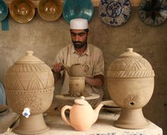 Who: Javid Mansoori What: Ceramics Where: Afghanistan Signature style: Istalifi pottery renowned for its distinctively beautiful turquoise colour. Backstory: Javid Mansoori grew up in the foothills of the Hindu Kush, in the famed pottery village of Istalif. Istalif had made beautiful turquoise pottery for over 400 years in an unbroken tradition, and Javid learnt from his father as his own father had done. However, with the advent of the Taliban much of the inherited skills were lost.