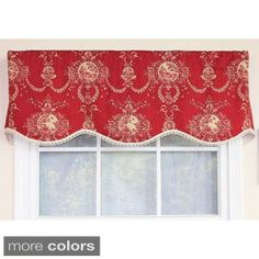 Shop for Cameo Toile Crimson Provance Window Valance. Get free delivery at Overstock.com - Your Online Home Decor Outlet Store! Get 5% in rewards with Club O!