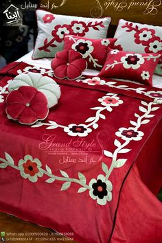 Homemade Bed Sheets, Bed Sheet Curtains, Bed Cover Design, Bed Covers, Pillow Covers, Embroidered Bedding, Painted Clothes, Curtain Designs, Applique Quilts