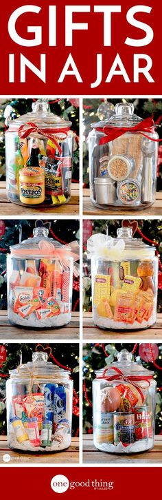 Simple, inexpensive, and sure to impress anyone on your gift list! Gift baskets have been done to death, so give a gift in a jar this year! Check out these 10 creative ideas for heartfelt holiday gifts packed up in a jar. Easy Gifts, Creative Gifts, Homemade Gifts, Cute Gifts, Unique Gifts, Creative Ideas, Creative Gift Baskets, Small Gifts, Homemade Christmas
