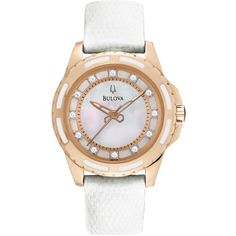 Bulova 98P119 Ladies Diamond White Watch *** You can find out more details at the link of the image.