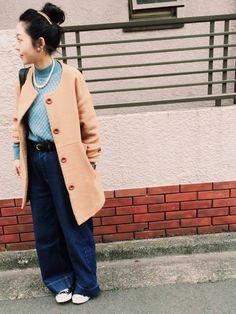 makiさんのデニムパンツ「URBAN RESEARCH Sonny Label Sonny Label ワイドデニムパンツ」を使ったコーディネート