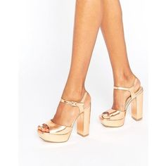 Missguided Platform Heeled Sandals