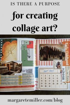 """""""if something doesn't have a purpose, why make it?"""" So I've been thinking about it: is there a purpose for creating collage art and gluebooks? Collage Book, Create Collage, Collage Artists, Book Art, Purple Thoughts, Art Journal Pages, Junk Journal, Art Journaling, Glue Book"""