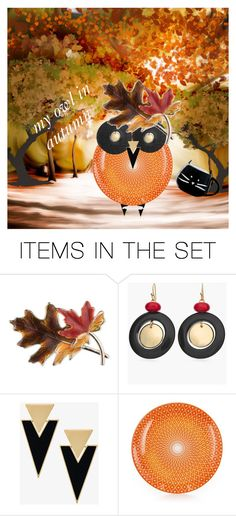"""surreal collection:owl in autumn"" by giulia-sicilia ❤ liked on Polyvore featuring art, owl, autumn and surrealcollection"