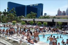 Wet Republic @ MGM Grand only salt water pool in Vegas ~ Come party with a daybed, table, cabana