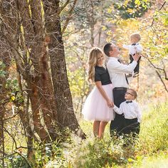 Cute photo session in the woods together, precious family photoshoot with matching outfits. Tulle skirt, midi skirt