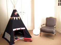 Tipi Childrens Tent, Diy Tipi, Kids Teepee Tent, Deco Kids, Big Design, Hanging Chair, Decoration, Diy For Kids, Baby Room