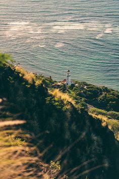 Diamond Head Lighthouse on the island of Oahu, Hawaii