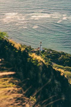 Diamond Head Lighthouse on the island of Oahu, Hawaii