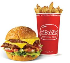 Mooyah Burger...beef, turkey burger or VEGGIE burger!! Yeah!