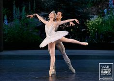 Carla Körbes (Pacific Northwest Ballet) and Robert Fairchild (New York City Ballet) perform the White Swan pas de deux on the Opening Night ...