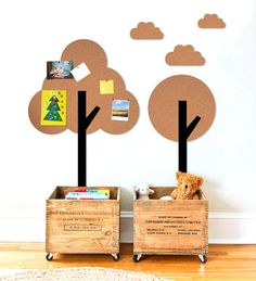 Table cork tree to the children's room - pin board , mail organizer by AuraHomeWatercolor on Etsy