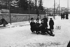 Szemlőhegyen csúsznak 1908-ban
