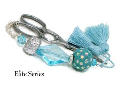 NEW! Blue and sparkly!  What more could you want? https://www.etsy.com/listing/247639573     Scissor Fob Scissor Keeper Scissor Minder Elite by TJBdesigns