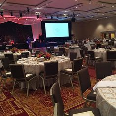 Getting all set up for the #CCAC50gala tonight starting at 6pm!