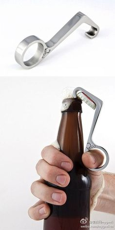 Open bottle with only one hand, now you can do it!