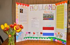 ... homeschooling project on Holland with #Elmers tri-fold display board