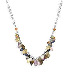 Amethyst Rainbow Gemstone Sterling Silver Necklace – Tribal Native L.A.