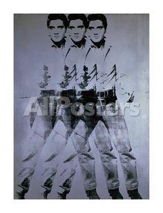 Triple Elvis, 1963 People Giclee Print - 61 x 80 cm