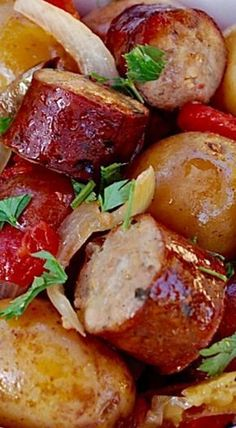 Slow Cooker Sausage and Potatoes ❊