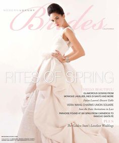 Ines Di Santo 'Candide' gown on the cover of Modern Luxury Brides South Florida & The Caribbean