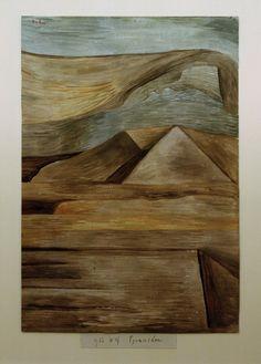 Paul Klee - Pyramiden, 1933.