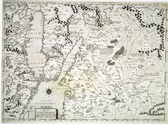 The northern part of the Baltic Sea environment. - Lafreri etc. 1568.