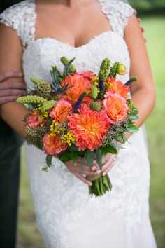 Bright Orange Flowers with Bold Green accents Bridal Bouquet Flower Bouquet Wedding, Bridal Bouquets, Dream Wedding, Wedding Day, Bouquet Photography, Bright Decor, Green Accents, Orange Flowers, Wedding Colors