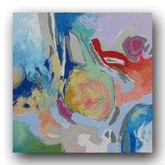 Original Painting Abstract Painting Wall Art Fine by LindaMonfort