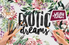 Exotic Dreams | Wreath Creator By Katsia Jazwinska