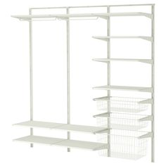 For under stairs?  ALGOT Wall upright/shelves/rod - IKEA $162.99 Article 599.267.44