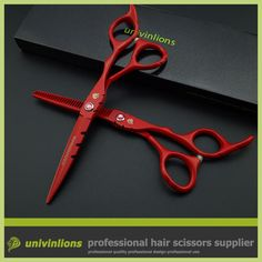 Cooperative 6 Hair Scissors Hairdressing Scissors Sale Professional Hair Dressing Scissors Red Barber Kit Clipper Haircut Thinning Shears Available In Various Designs And Specifications For Your Selection Hair Care & Styling Hair Scissors