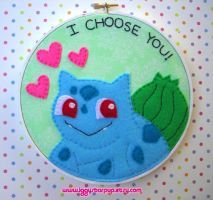 Bulbasaur Embroidery Hoop by iggystarpup on DeviantArt Nerd Crafts, Diy Crafts, Video Game Crafts, Pokemon Bulbasaur, Felt Stories, Story Characters, Etsy Store, Nerdy, Hoop