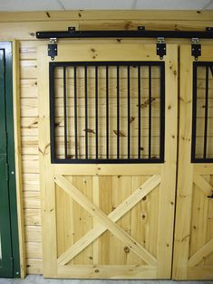 EQUUS Dutch Door Kit from Plyco features a crossbuck door and bale door with important hardware like an extended door jamb dutch door hinge and more
