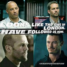 Looks like the sins of london  have followed us Home -toretto. #fastandfurious…