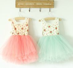 Sweet floral dress with a gorgeous tutu. Perfect for summer! Peachy Pink