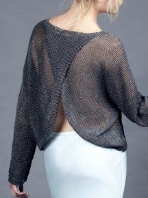 Margaret O'Leary ... back wrap pullover