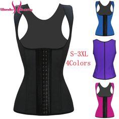 Dmart7dealWomen Vest Bodyshaper Corset Latex Corset Sexy Women Waist Cincher Slimming Body Shaper Wear Plus Size W88011A