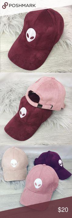 3db18a6131c Maroon Alien Bae Vegan Suede Dad Hat. Alien HatDad HatsTrustUnifEmbroideryBaeVeganDesigner  HandbagsNeedlework