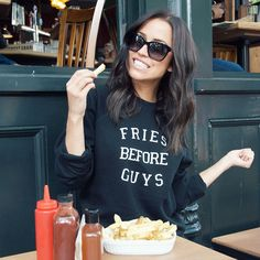 """Kaitlyn Bristowe on Instagram: """"Don't let Shawn see my @bitnbclothing sweater  #buttheyresoyummy #frieslover #brunetteisthenewblack See what else I can do with fries on my blog: www.kaitlynbristowe.com"""""""
