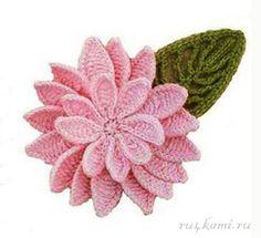 Crochet Flower + Diagrams