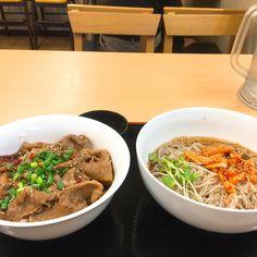 冷麺&カルビ丼セット どんや