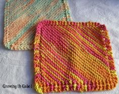 Easy Knitted Dishcloth: Growing Up Gabel