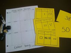 First Grade School Box: Place Value Activity